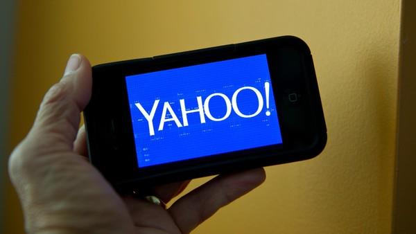 Yahoo screenshot on mobile