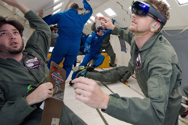 Microsoft hololens in space